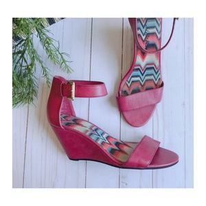 American Eagle Outfitters Pink Wedge Sandals